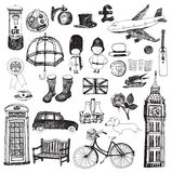 Anglia set royalty ilustracja