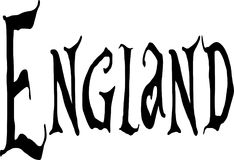 Anglia teksta znaka illutration Obraz Royalty Free