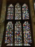 Anglian stained glass windows royalty free stock photo