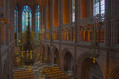 Anglican Cathedral Liverpool Childrens Window royalty free stock photo