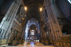 Anglican cathedral in Liverpool Stock Photography