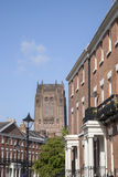 Anglican Cathedral and Local Streets Stock Photography