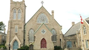 Anglican Church. One of the oldest church in Waterloo area stock video