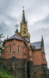 Anglican Church of Saint Lucas, Karlovy Vary. The Pseudo-Gothic Anglican Church of Saint Lucas was constructed between the years 1876 and 1877, Karlovy Vary Royalty Free Stock Images