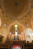 The Anglican Church of St Simon the Zealot. The interior of Anglican Church of St Simon the Zealot in Shiraz during Christmass time, Iran Stock Photo