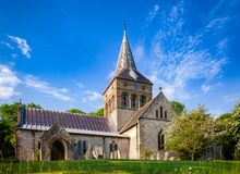 All Saints Church in East Meon Hampshire South East England UK. Anglican parish church of All Saints in East Meon, village and civil parish in Hampshire, South royalty free stock images