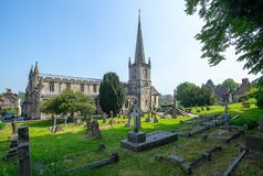 The Anglican Parish Church of St John the Baptist, Frome. The Anglican parish Church of St John the Baptist in Frome Somerset.  Construction of the church Stock Image