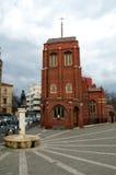 anglicanbucharest kyrka fotografering för bildbyråer