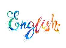 anglicy Inskrypcji fof pluśnięcia farby listy ilustracji