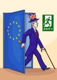 Anglik opuszcza Europejskiego zjednoczenie Obrazy Stock