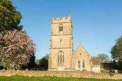 Anglikanische Dreifaltigkeitskirche - langes Newnton, Gloucestershire lizenzfreie stockfotos