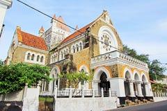 Anglikansk kyrka för Galle fort` s - arv för Sri Lanka UNESCOvärld Fotografering för Bildbyråer