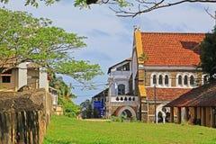 Anglikansk kyrka för Galle fort` s - arv för Sri Lanka UNESCOvärld Royaltyfri Fotografi