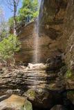 Anglin下跌瀑布 库存图片