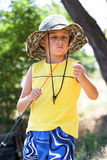 Angling boy Stock Photography