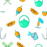 Angling pattern, cartoon style. Angling pattern. Cartoon illustration of angling vector pattern for web Royalty Free Stock Image
