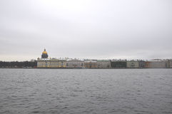 Angliyskaya embankment and Neva river in winter St. Petersburg, Russia. Angliyskaya embankment  in St. Petersburg, Russia Stock Photography