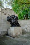 Anglo-Belgisch Gedenkteken in Victoria Embankment van de rivier van Theems in Londen Royalty-vrije Stock Foto