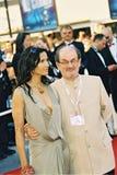 Anglo-Indian novelist Salman Rushdie stock photo