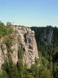 anglo rocks sand saxonen switzerland Royaltyfria Bilder