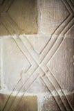 Anglonormańscy filary z wzorami fotografia royalty free