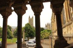 Anglonormańska schody Canterbury katedra UK Zdjęcie Royalty Free
