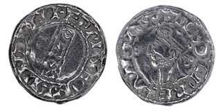 Anglosaxare Penny Coin Arkivbild