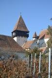 Anglosaxare stärkt kyrka, Transylvania royaltyfri fotografi