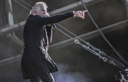 Anglosaxaren Biff Byford, bor konserten 2017 Royaltyfri Fotografi