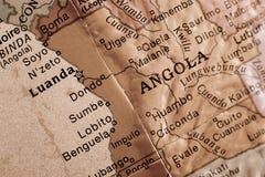 Angola. Closeup on a globe showcasing Angola Royalty Free Stock Photography