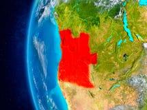 Angola auf Erde vom Raum Stockfoto