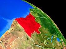 Angola auf Planet Erde stock abbildung