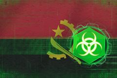 Angola biohazard threat. Virus danger concept. Stock Images