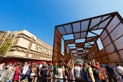 Angola and Brazil Pavilions - Expo Milano 2015 Royalty Free Stock Photo