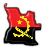 Angola button flag map shape Stock Images