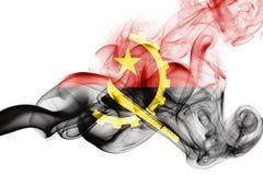 Angola dymu flaga Zdjęcie Royalty Free