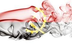 Angola dymu flaga Obrazy Royalty Free