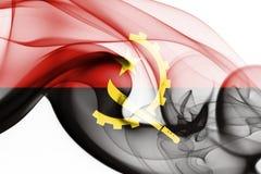 Angola dymu flaga Zdjęcia Stock