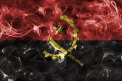 Angola dymu flaga Fotografia Royalty Free