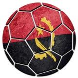 Angola för medborgare för fotbollboll flagga Angola fotbollboll Fotografering för Bildbyråer