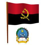 Angola falista flaga Zdjęcie Stock