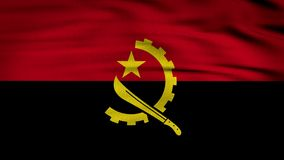 Angola falowania flaga zdjęcie wideo