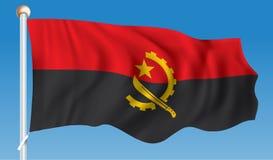 angola flagę royalty ilustracja