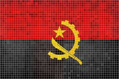 angola flagę ilustracja wektor