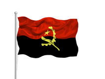 Angola Flag 2 Royalty Free Stock Images