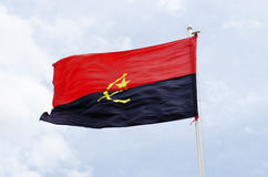 Angola flag Stock Photos