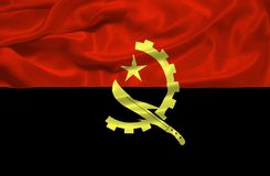 Angola Flag 3 Royalty Free Stock Image