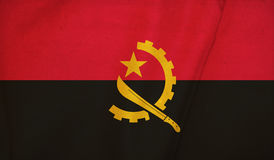 angola flagę Zdjęcia Stock