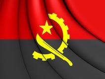 angola flagę Zdjęcie Stock