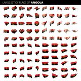 Angola flag, vector illustration Stock Photography